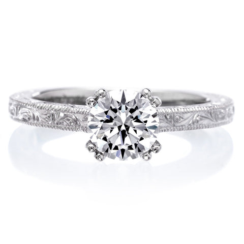 18K White Gold Bernadette Engagement Ring