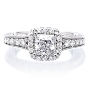 18K White Gold Octavia Engagement Ring