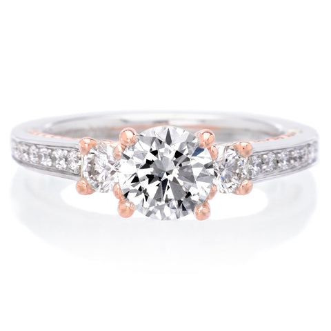 18K White and Rose Gold Marlow Engagement Ring