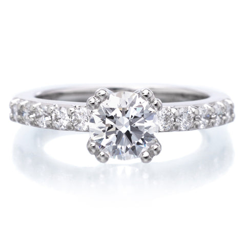 18K White Gold Mia Engagement Ring