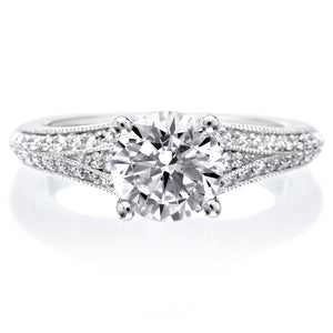 18K White Gold Analisa Engagement Ring