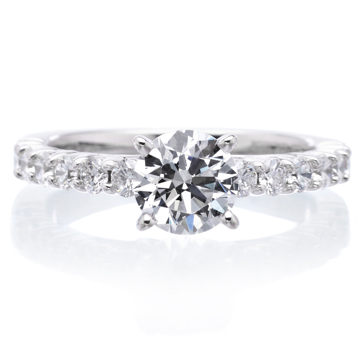 18K White Gold Ella Engagement Ring