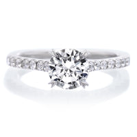 Classic Round Brilliant Diamond Engagement Ring