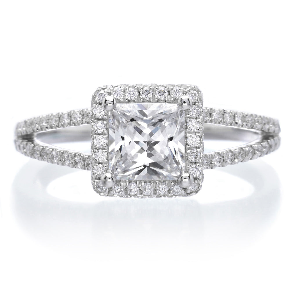round matching rings and split engagement pave wedding band fotor ring diamond shank curved shop