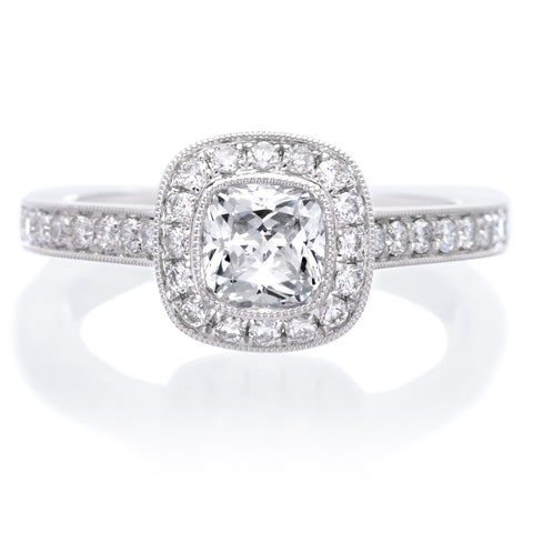 Classic Cushion Diamond Halo Engagement Ring