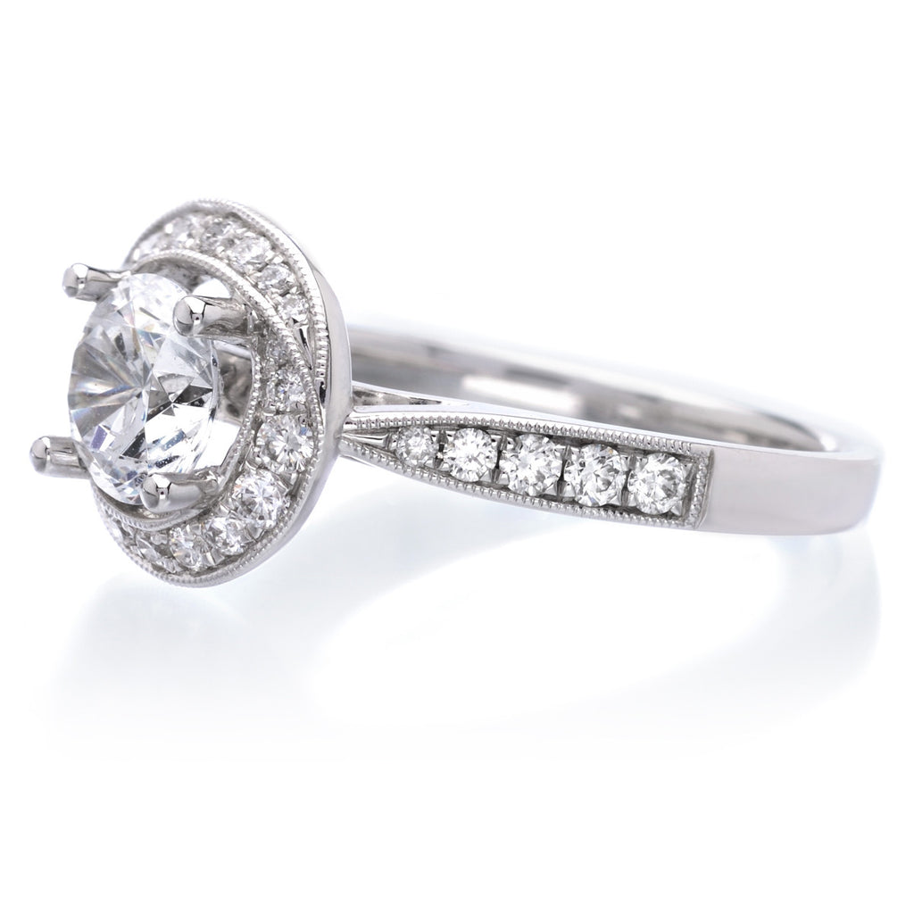 Dazzling Diamond Halo Engagement Ring