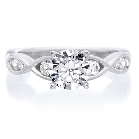 Unique Round Brilliant Diamond Engagement Ring