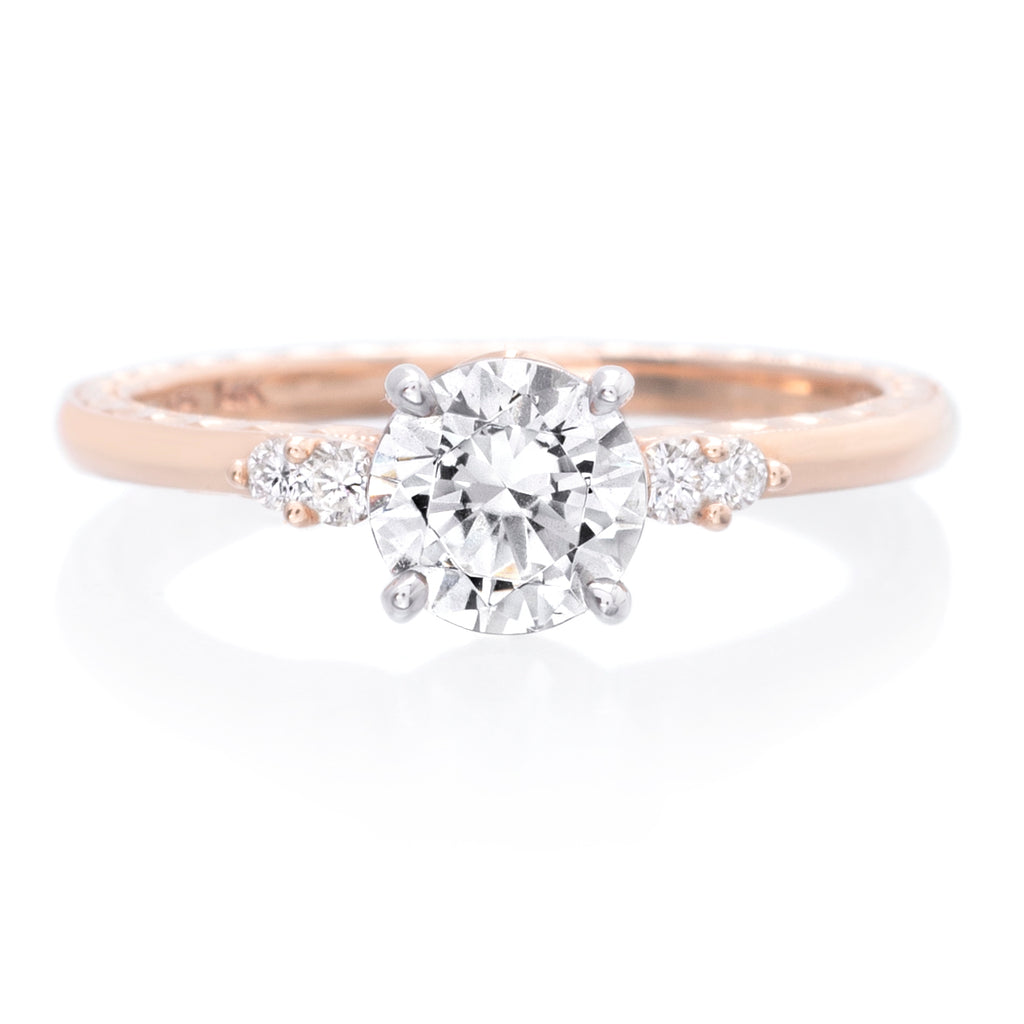 14K Rose Gold and 18K White Gold Engagement Ring