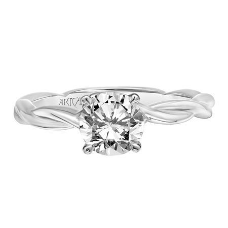 Platinum Twisted Diamond Engagement Ring