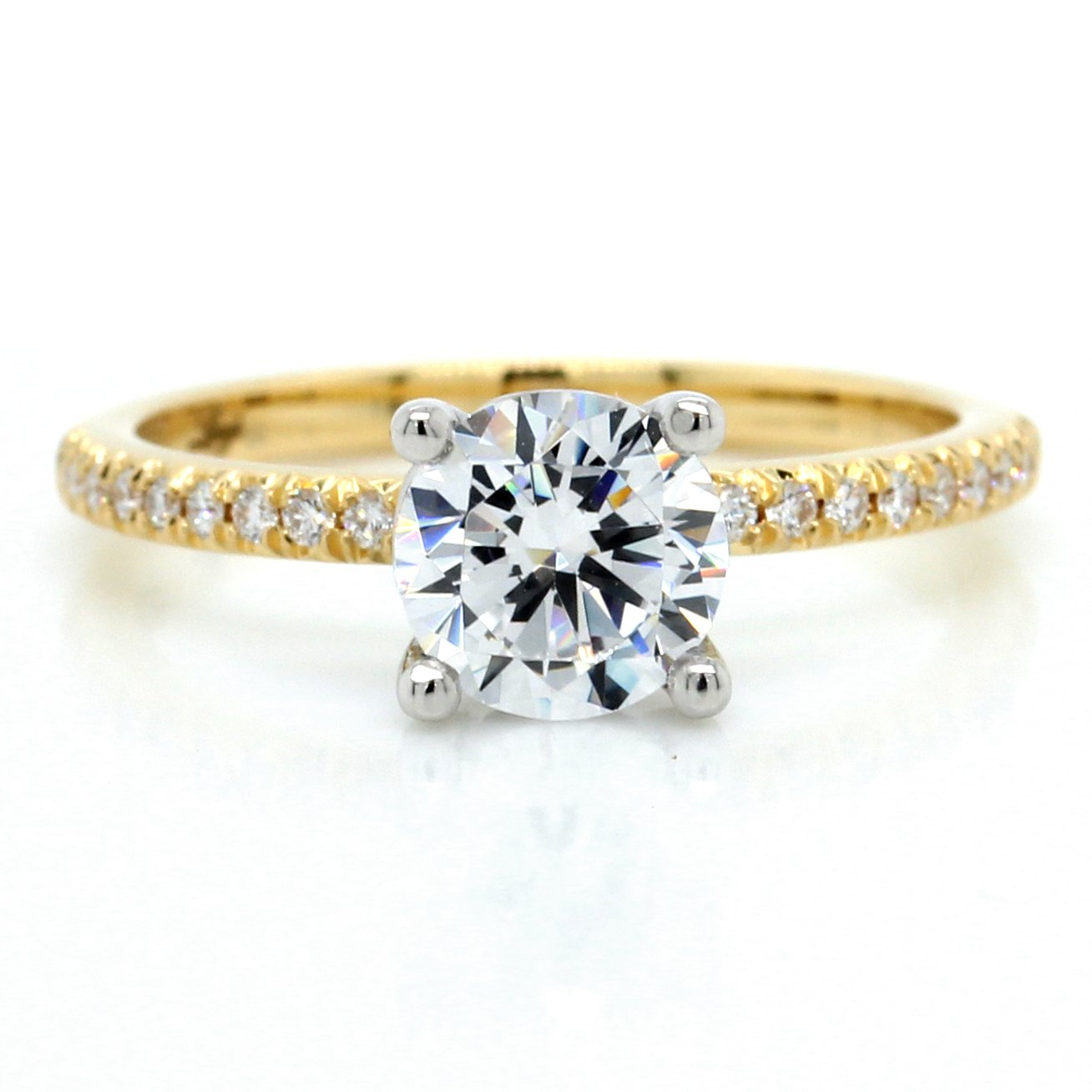 18K Yellow Gold French Cut Engagement Ring