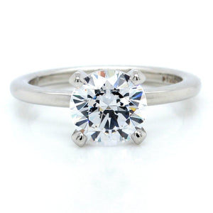 Platinum Four-Prong Engagement Ring