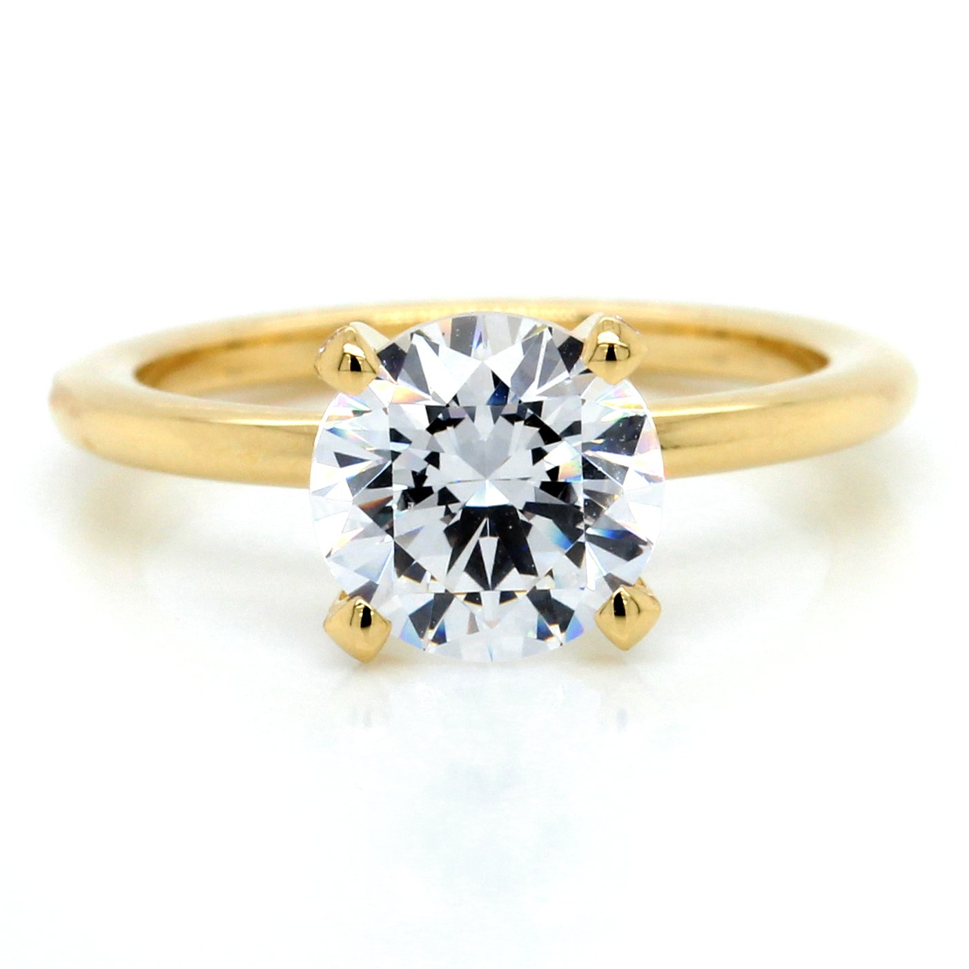 18K Yellow Gold Four-Prong Engagement Ring