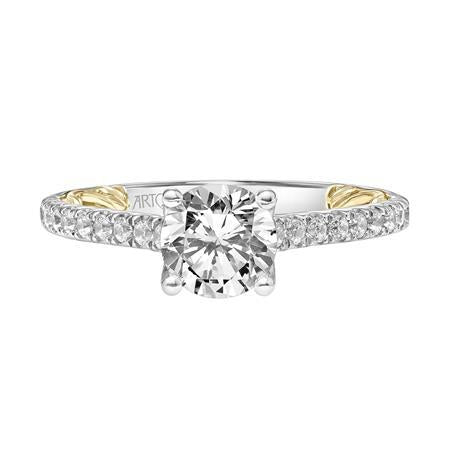 18K White and Yellow Gold Engagement Ring