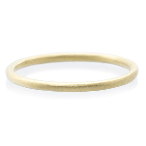18K Yellow Gold Plain Stacking Ring