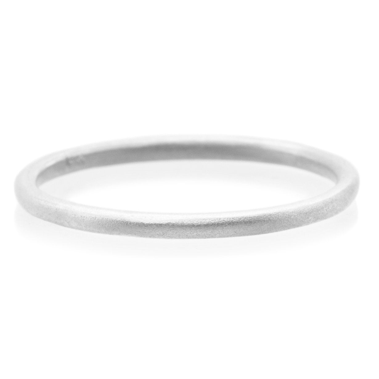 18K White Gold Plain Stacking Ring