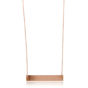 14K Rose Gold Bar Necklace