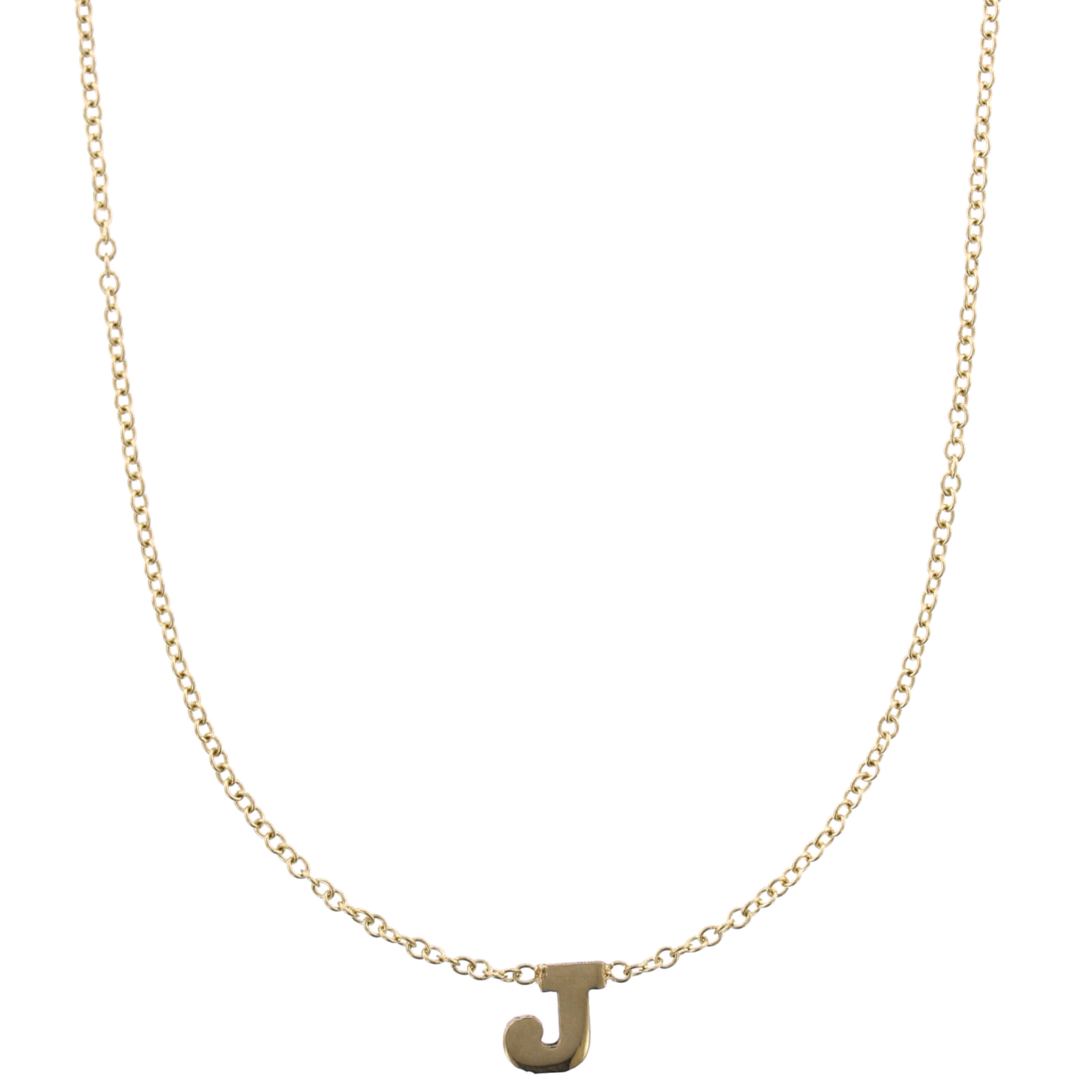 14K Yellow Gold Initial Necklace