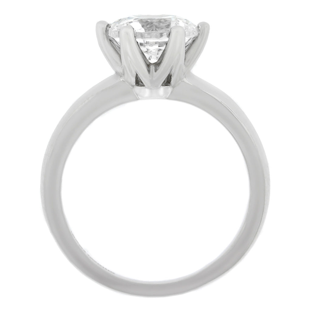 Platinum Classic Six Prong Diamond Engagement Ring
