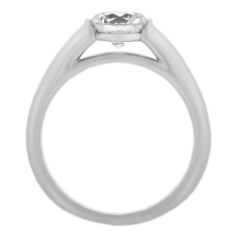 Platinum Classic Two Prong Diamond Engagement Ring