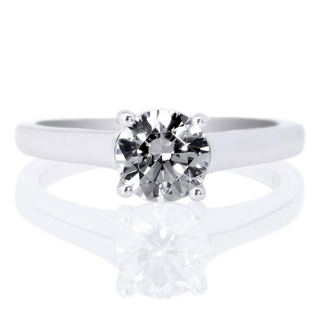 solitaire shining cut round rings ring white diamonds prong engagement diamond