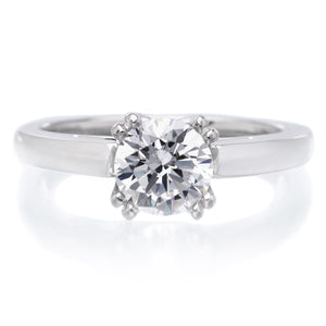 18K White Gold Cashe Engagement Ring