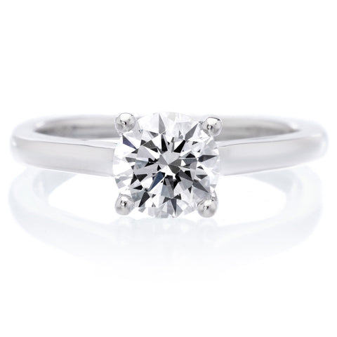 18K White Gold Abby Engagement Ring