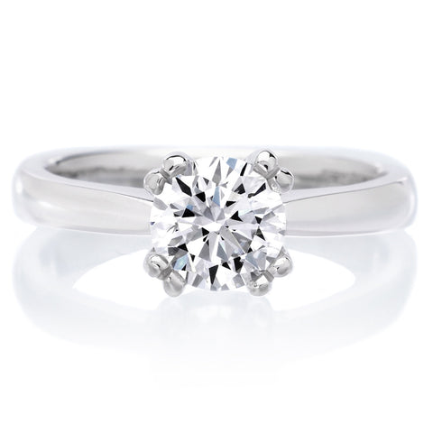 18K White Gold Dahlia Engagement Ring