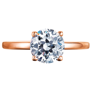 18K Rose Gold Four Prong Solitaire Diamond Engagement Ring