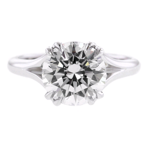 Platinum Double Prong Engagement Ring Setting