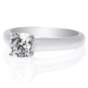 Platinum Four-Prong Trellis Engagement Ring