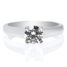 18K White Gold Halo Gallery Milgraine Engagement Ring