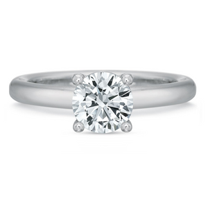 Platinum Mod Classic Four-Prong Solitaire Engagement Ring Setting