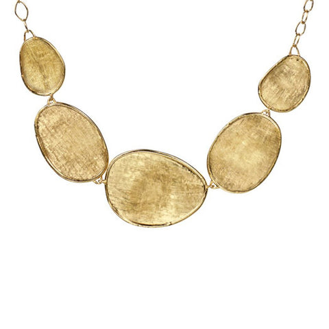 Lunaria 18K Yellow Gold Graduated Necklace