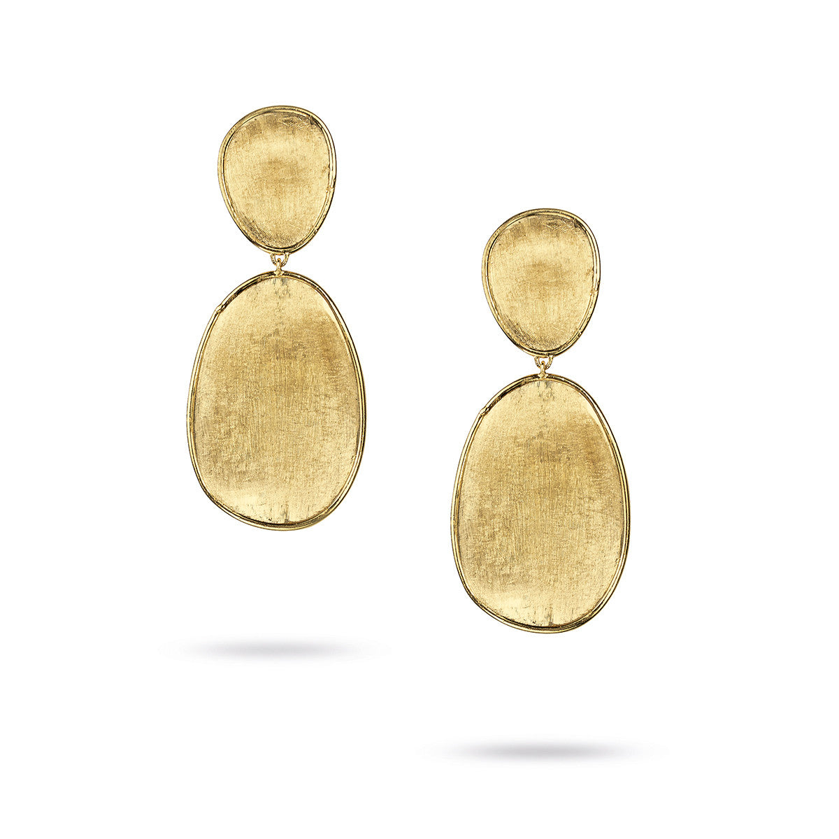 Lunaria 18K Yellow Gold Small Double Drop Earrings
