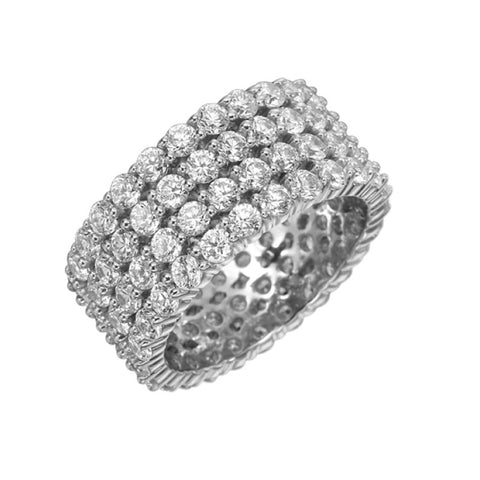 Platinum Pétite Prong® 11 Stone Diamond Band .33ctw