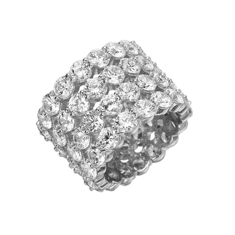 Platinum Pétite Prong® Five Stone Diamond Band 0.75 CTW