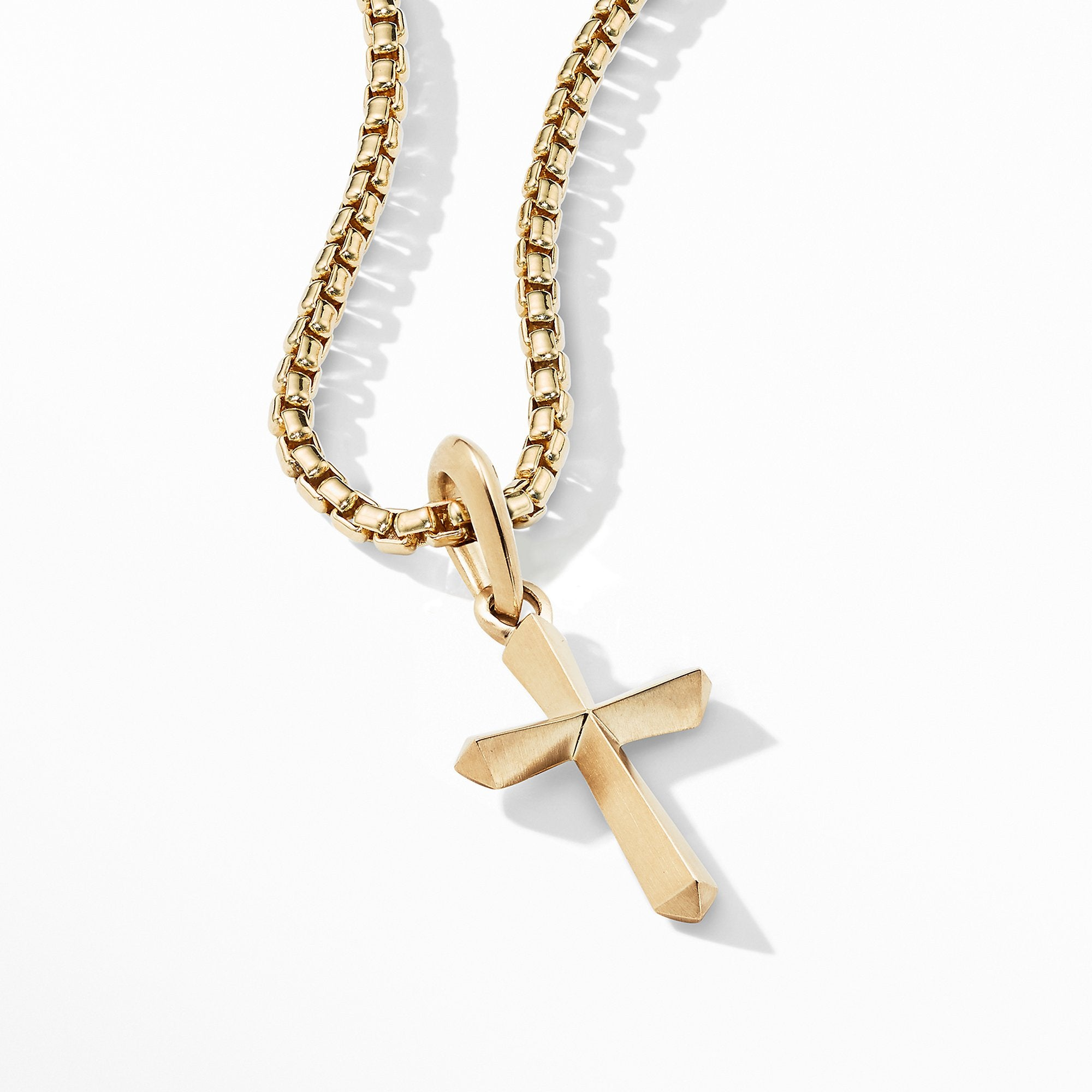 Roman Cross Amulet in 18K Gold