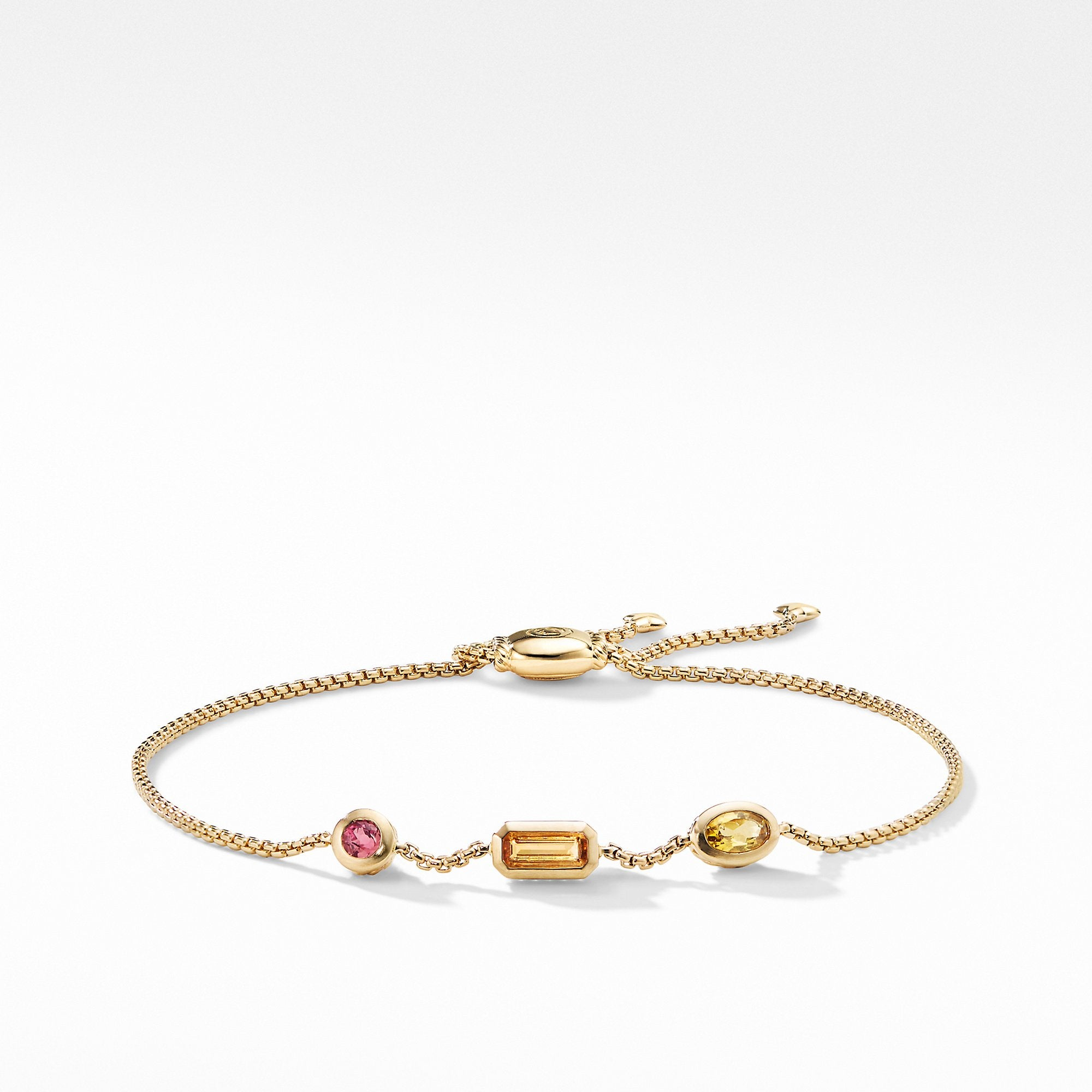 Novella Chain Bracelet in Citrine, Yellow Beryl, and Pink tourmaline
