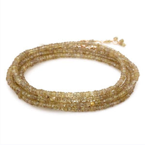 18K Yellow Gold Brown Garnet Wrap Bracelet