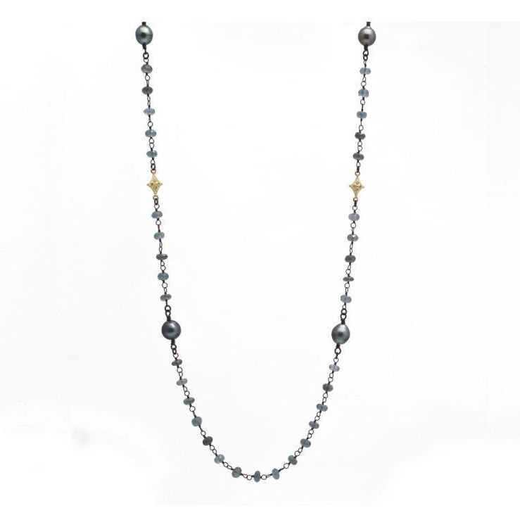 18K Yellow Gold and Sterling Silver Crivelli Necklace