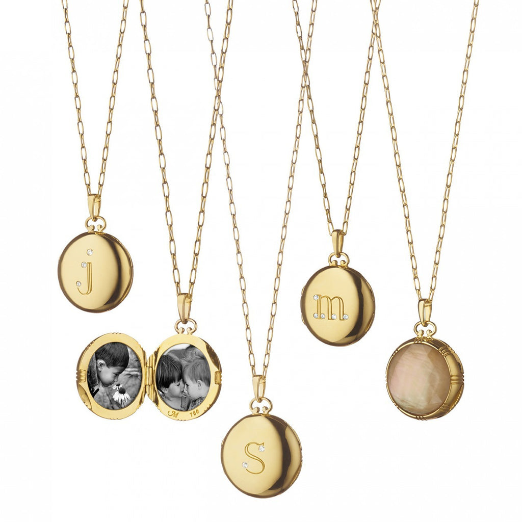 18K Yellow Gold Bespoke Petite Initial Locket