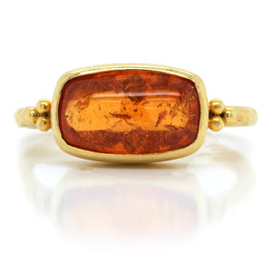 18K Yellow Gold Garnet Ring