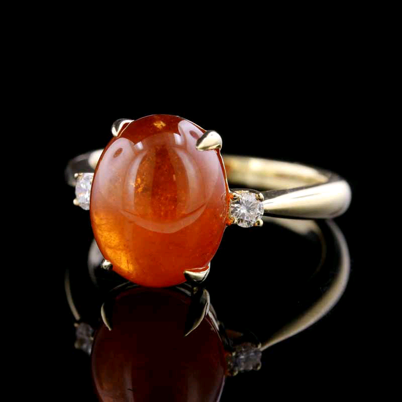 14K Yellow Gold Spessartite Ring