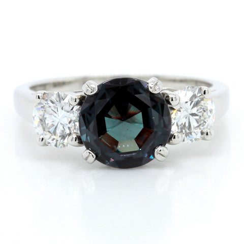Platinum Alexandrite and Diamond Ring (One-Of-A-Kind Collection)