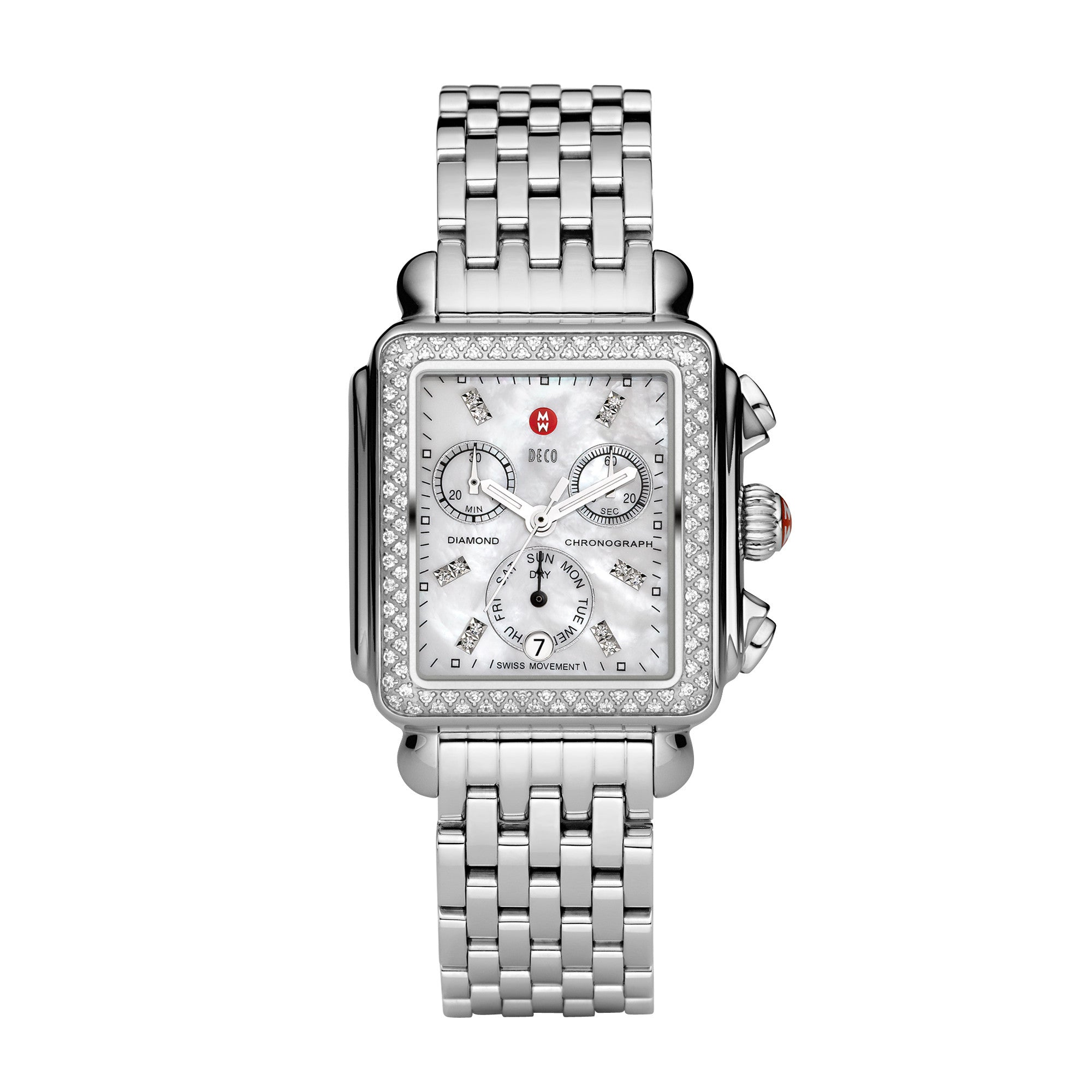 Michele Watch Deco Diamond with Diamond Dial