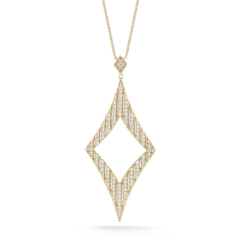 Jeb 14K Diamond Cutout Necklace