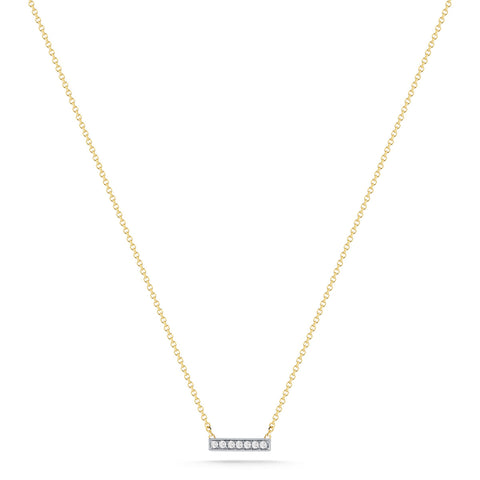 Sylvie Rose 14K Yellow Gold Diamond Bar Necklace
