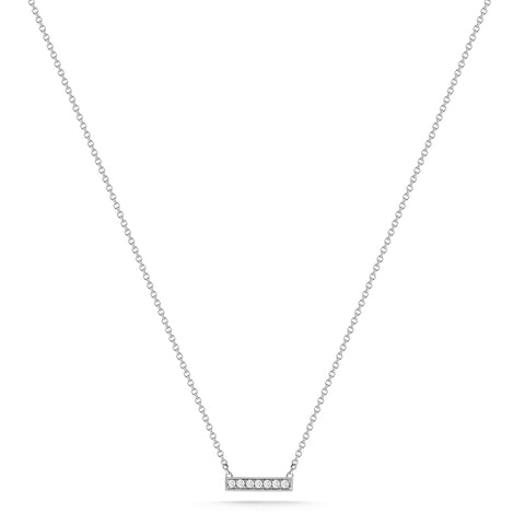 Emily Sarah 14K White Gold Diamond Necklace