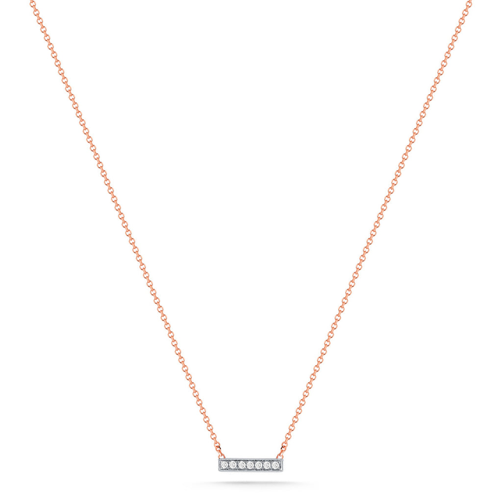 Sylvie Rose 14K Rose Gold Diamond Bar Necklace