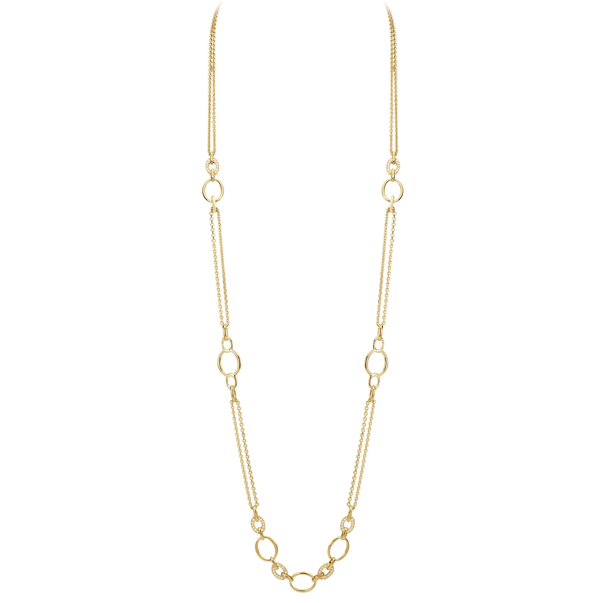 18K Yellow Gold Convertible Carousel Necklace